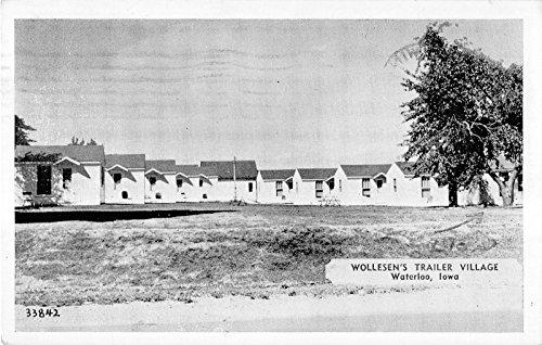(Waterloo Iowa Wollesen's Trailer Village General View Vintage Postcard V14904 )