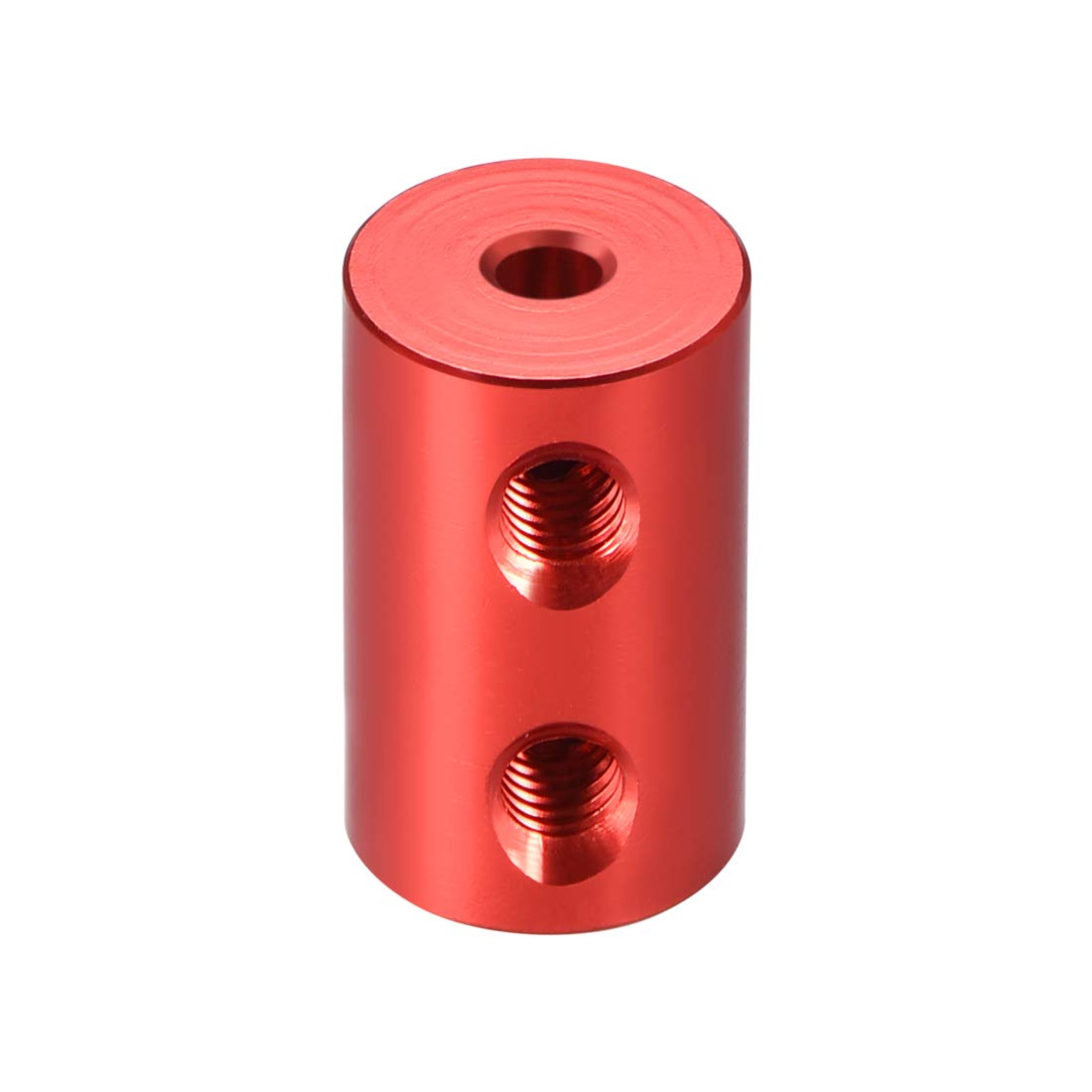 uxcell Shaft Coupling 3.17mm to 5mm Bore L20xD12 Robot Motor Wheel Rigid Coupler Connector Red