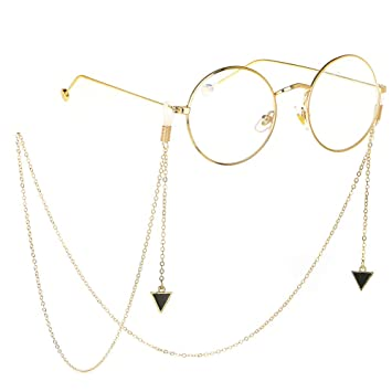 Gafas Antideslizantes de Metal Gafas Lanyard Gafas de Sol Cadena Correa para el Cuello Gafas Retenedor Sujetador de Cuerda (Color : Oro): Amazon.es: Hogar