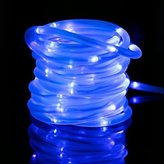 Blue solar powered rope lights outdoor do it yourselfore lte lighting even lte solar rope lights led string lights waterproof solar powered decoration light for workwithnaturefo
