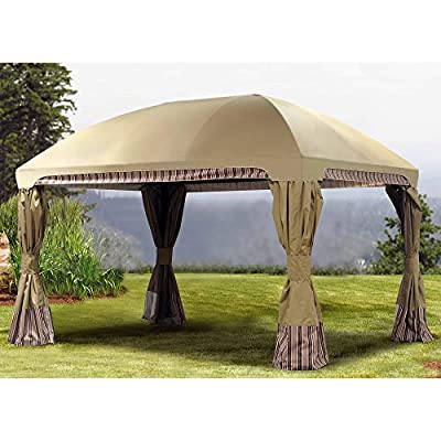 Sunjoy A111011900 Original Replacement Canopy for Pomeroy Domed Top Gazebo (10x13 FT) L-GZ702PST Sold at Sam's, Beige : Garden & Outdoor