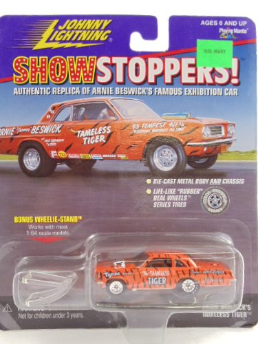 Johnny Lightning - Show Stoppers - Authentic Riplica of Arnie Beswick's Famous Exhibition Car, the Tameless Tiger with Wheelie Stand