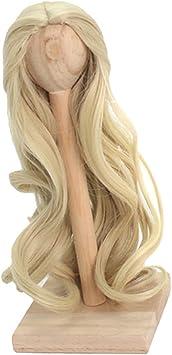 2 Stücke Mädchen Puppe Lockiges Haar Für 1//4 Bjd Puppe Diy Machen Und