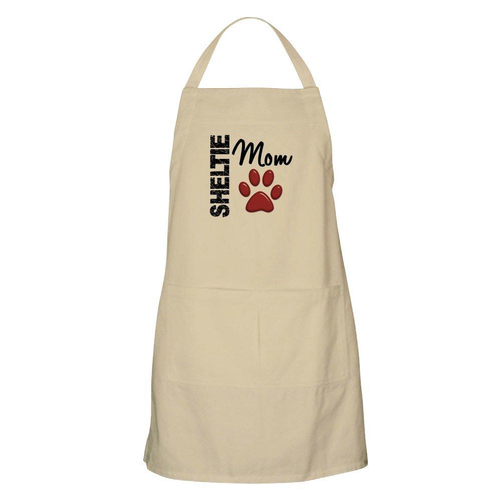 CafePress – Sheltie Mom 2エプロン – キッチンエプロンポケット付き、グリルエプロン、Bakingエプロン ベージュ 060361905140D7A  カーキ B073X5RVWZ