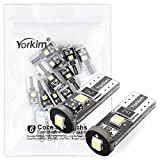 Automotive : 2825 LED Bulb, Yorkim 12v Extremely Bright LED with Error Free, for 194 LED Bulb, 168 175 2825 T10 PX Chipsets LED Bulbs (Pack of 10)