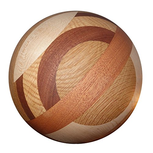 Tai Chi Ball - MODERN (YMAA Artisan series) 7 inches, 4-5 lbs, mixed wood. Use with Tai Chi DVD. by YMAA