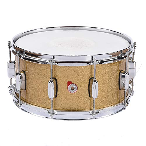 Barton Drum Co. Maple 6.5x14 Snare Drum Ginger Sparkle