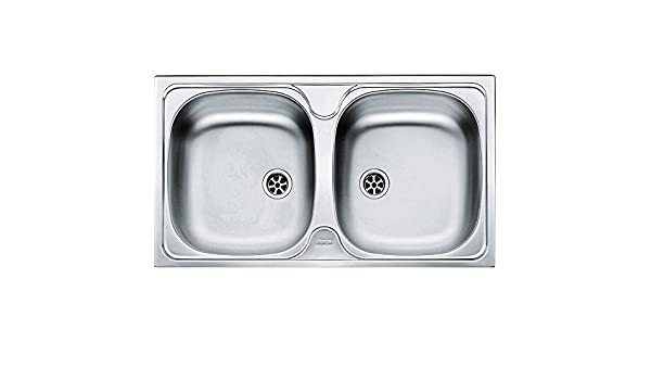 Franke 101.0294.268 Stainless Steel Linen Kitchen Sink with Double Bowl from Colibri CIL - Grey - - Amazon.com