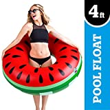 BigMouth Inc Giant Watermelon Pool Float, Funny Inflatable Vinyl Summer Pool Beach Toy, Patch Kit Included