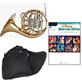 Band Directors Choice Double French Horn Key of F/Bb - Disney Movie Hits for French Horn Pack; Includes Intermediate French Horn, Case, Accessories & Disney Movie Hits for French Horn Book