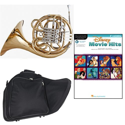 Band Directors Choice Double French Horn Key of F/Bb - Disney Movie Hits for French Horn Pack; Includes Intermediate French Horn, Case, Accessories & Disney Movie Hits for French Horn Book by Double French Horn Packs