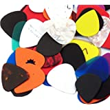 100 Assorted JMS Guitar Picks with Includes Various Sizes and Materials