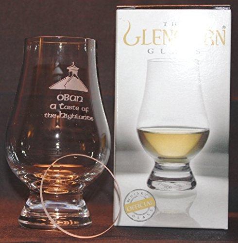 OBAN PAGODA TOP GLENCAIRN SINGLE MALT SCOTCH WHISKY TASTING GLASS WITH WATCH GLASS COVER