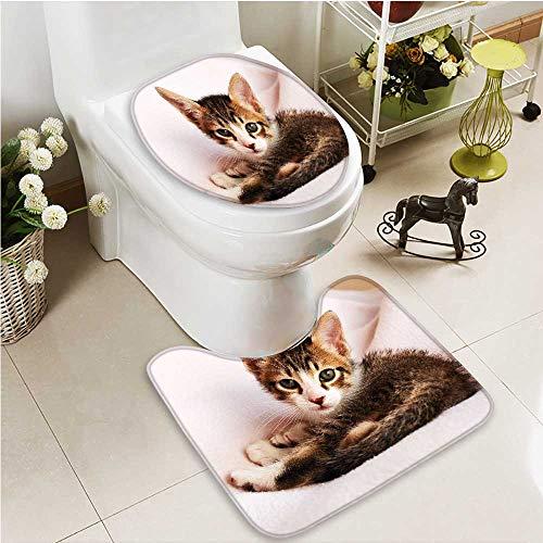 Printsonne 2 Piece Toilet mat set pet cat Absorbent Cover