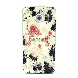 Para Galaxy S6 , ivencase Elegante Flor Slim Patrón Suave TPU Gel Textura Ultra Thin [Flexible] Bumper Protector Trasero Piel Funda Carcasa Tapa Case Cover Perfecto Fit Para Samsung Galaxy S6 SM-G920