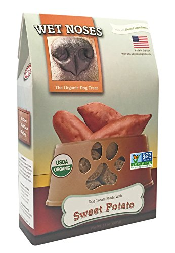 Wet Noses All Natural Dog Treats, Made in USA, 100% USDA Certified Organic, Non-GMO Project Verified, Sweet Potato, 14 oz Box