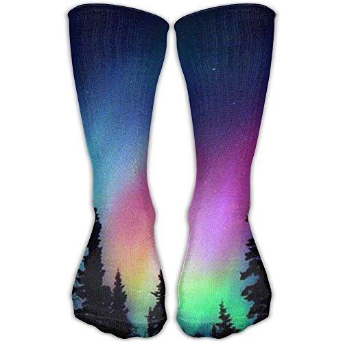 Fashion Comfortable Aurora Polaris Light Crew Socks Soccer Christmas Socks For - Fashion Place Polaris