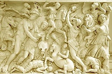 WH-PORP 3D Papel pintado Fondo de pantalla en 3D personalizado Escultura romana Arenisca de