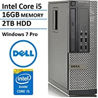 Dell Optiplex 7010 SFF Business Desktop Computer PC (Intel Quad-Core i5-3570 up to 3.8GHz Processor, 16GB DDR3 Memory, 2TB HDD, DVD, Windows 7 Professional) (Certified Refurbished)
