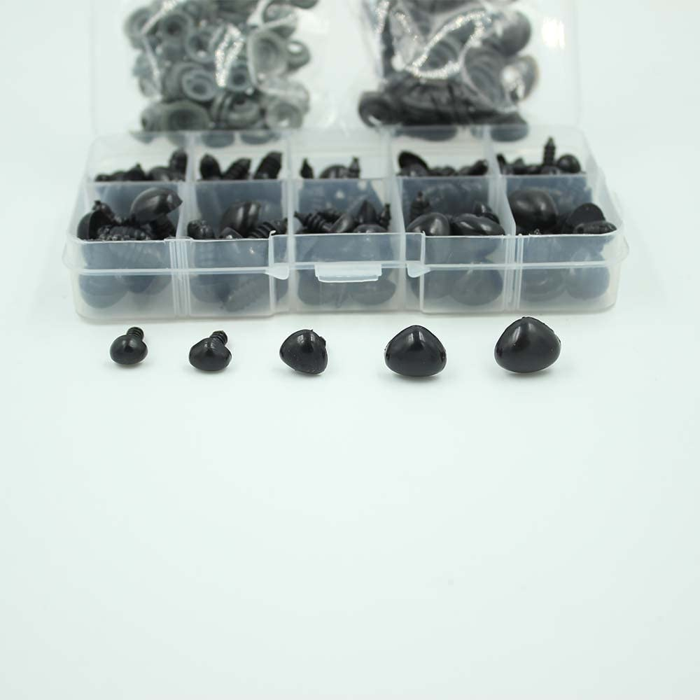 100pcs 3//4//5//6//7//8//9//10//12//14mm Glass Eyes on Wire Amber Toy Teddy Eyes Puppets Dolls Crafts 10mm, Amber