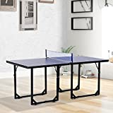 onestops8 Mini Table Tennis Ping Pong Table Folding Portable Indoor Outdoor Game Sport