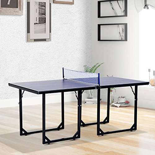 onestops8 Mini Table Tennis Ping Pong Table Folding Portable Indoor Outdoor Game Sport by onestops8