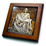 3dRose ft_82096_1 Italy Rome Vatican St Peters Basilica Pieta Cindy Miller Hopkins Framed Artwork