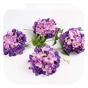Memoirs- Luxury Artificial Silk Hydrangea Flower Head 15cm for DIY Wedding Wall Flore Party Home Accessory Decoration Flower 20colors 103