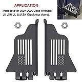 2pcs Steel Front Foot Pegs Rest Pedal Exterior Door Hinge With US Flag for 2007-2020 Jeep Wrangler JK JKU JL JLU
