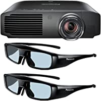 Panasonic PT-AE8000U 1080p Full HD 3D Home Theater Projector + 2 Pairs of Panasonic 3D Glasses DavisMax Bundle