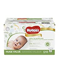 HUGGIES Natural Care Baby Wipes, Refill Pack (648  Sheets Tot...