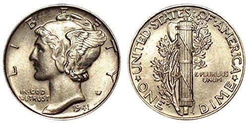 1941 Gem Brilliant Uncirculated Silver Mercury Dime Choice BU ()
