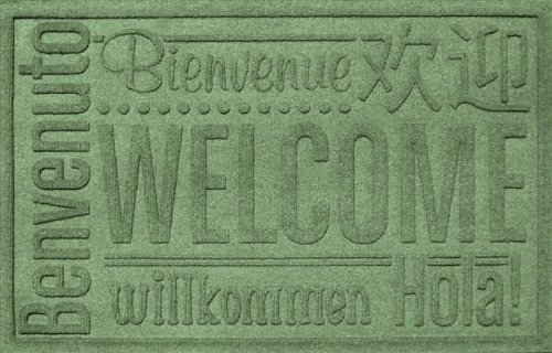 AquaShield Worldwide Welcome Mat, 2 by 3-Feet, Light Green