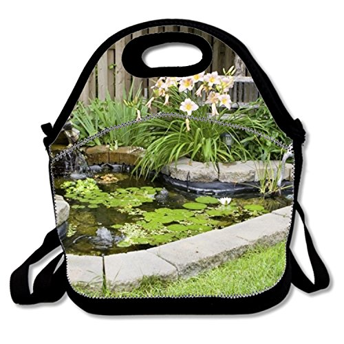 Reusable Food Handbag Pond Thermal Cooler Tote Waterproof For Men - Autumn Pond Food