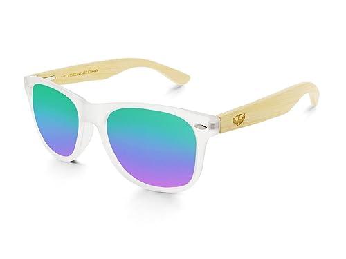 Gafas de madera MOSCA NEGRA modelo MIX FOG and Green - Wood Sunglasses - Polarized