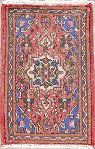 (Rug Source Traditional Hamedan Wool Hand Knotted Persian Red Oriental 2x3 Area Rug (2' 7