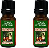 Set of 2 - Concentrated Fragrance Oil - Christmas - Orange spice notes w/pine notes from the Christmas tree. Made w/ natural orange, cinnamon, and pine essential oils (.33 fl.oz.)