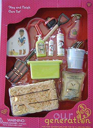 Our Generation Hay and Neigh Horse Care Set
