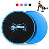 LAMSEA Exercise Sliders Fitness, Dual Sides Strength Slides Workout Slider Gliding Discs for Exercise Equipment Core Discs Sliders Perfect Used on Carpet or Hard Floors For Sale