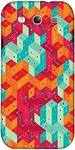 Snoogg Fresco Líneas De Colores Diseñador Protectora Volver Funda Para Samsun...