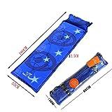 Lightweight Sleeping Mat Mattress Self-inflating Pad with Pillow, Blue