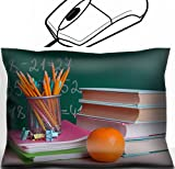 MSD Mouse Wrist Rest Office Decor Wrist Supporter Pillow design: 32904059 School supplies on table on board background