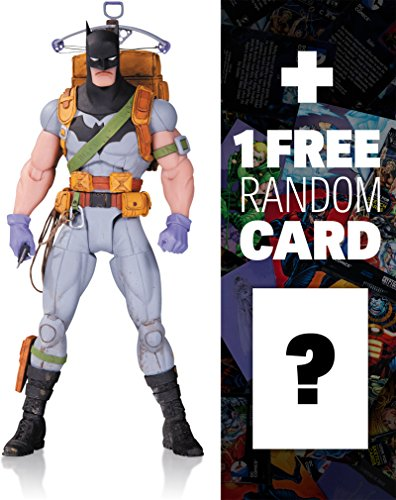 "Survival Gear Batman by Greg Capullo: ~6.6"" DC Comics Designer Series Action Figure + 1 FREE Official DC Trading Card Bundle (33794)"