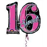 "Anagram International Sweet 16 Prismatic Shape Balloon, 26"", Multicolor"
