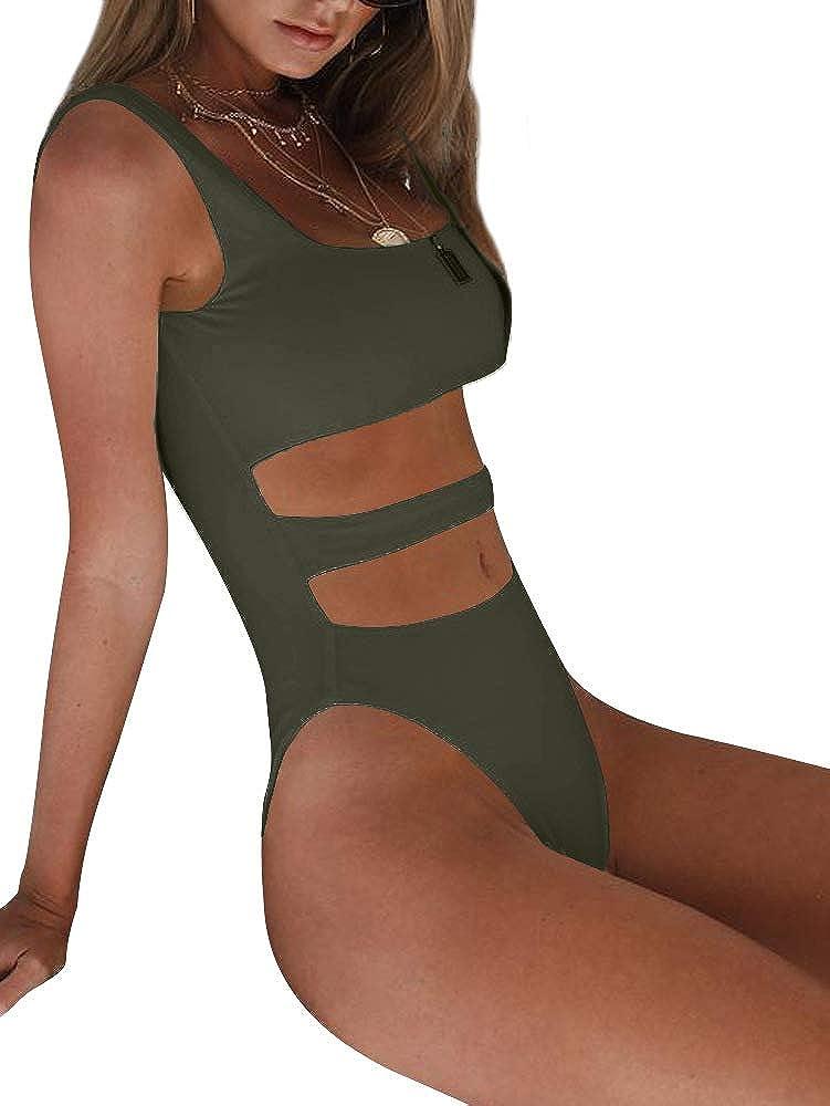 BEAGIMEG Womens Tank Top Cut Out Sleeveless Bodice Bodysuit Party Clubwear BA044
