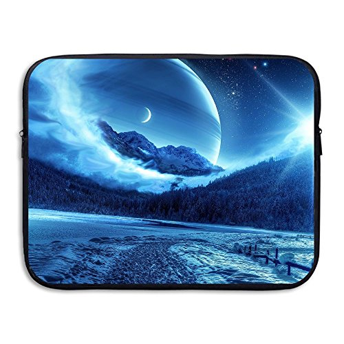 Fonsisi Laptop Storage Bag Winter Night Mountains Road Portable Waterproof Laptop Case Briefcase Sleeve Bags Cover -