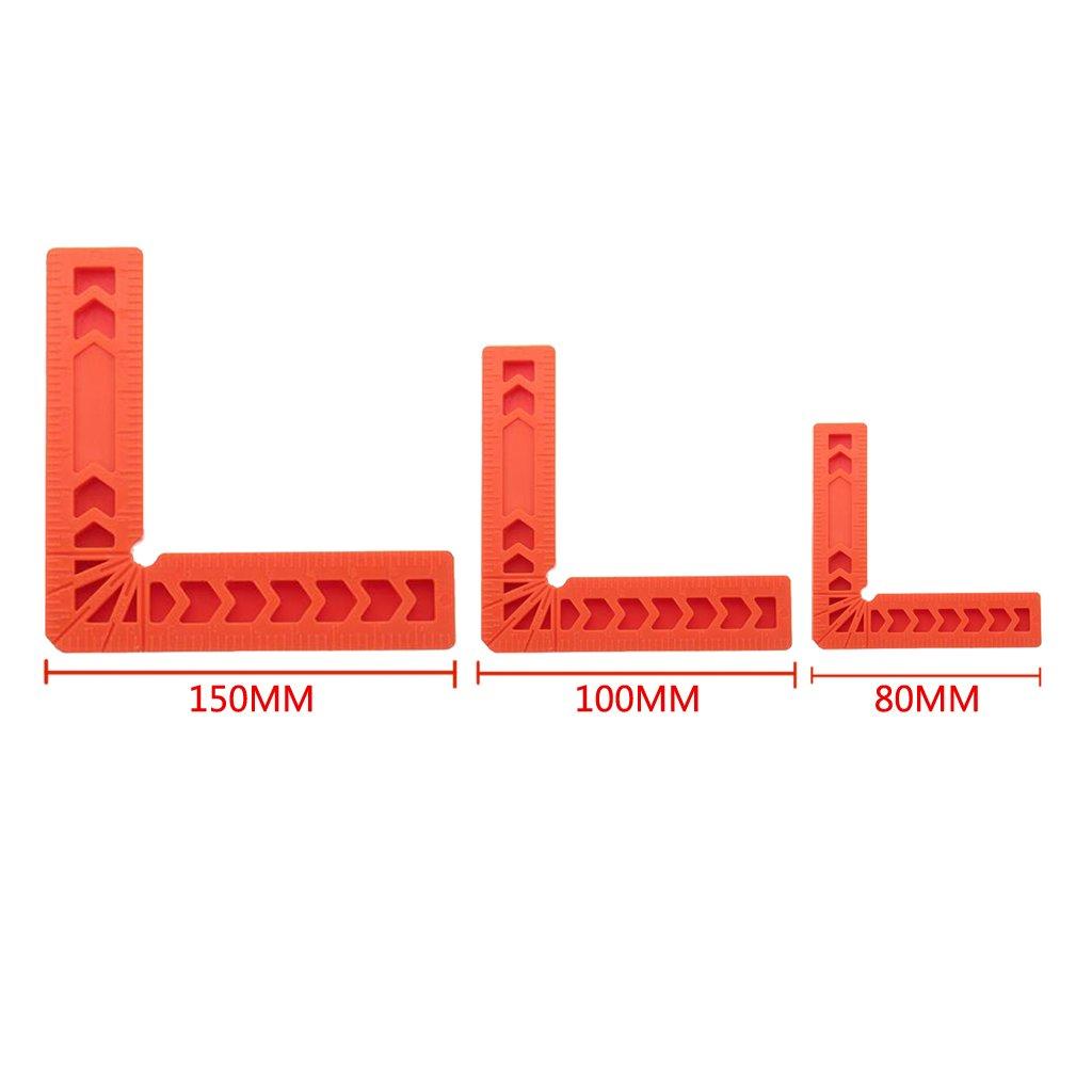 4Pcs Piastre Di Posizionamento Angolari A 90 /° Morsetti Rettangolari Da 3 Pollici In Plastica NOVIT/À