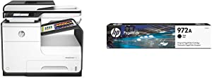 HP PageWide Pro 477dw Color Multifunction Business Printer with Wireless & Duplex Printing (D3Q20A) with Standard Yield Black Ink Cartridge