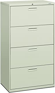 product image for HON 574LQ 500 Series 30 by 53-1/4 by 19-1/4-Inch 4-Drawer Lateral File, Light Gray