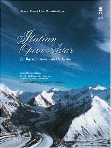 Italian Opera Arias For Bass-Baritone And Orchestra Book CD